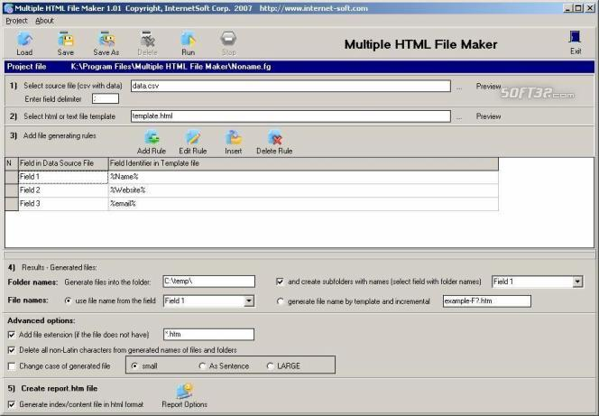 Multiple HTML File Maker Screenshot 2