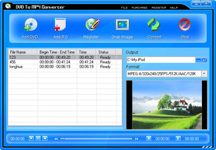 Pop DVD To MP4 Converter Screenshot