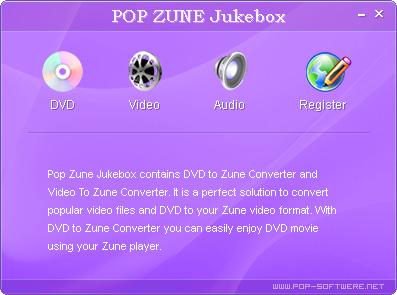 Pop Zune Jukebox Screenshot