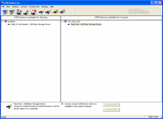 USB Redirector Screenshot 4
