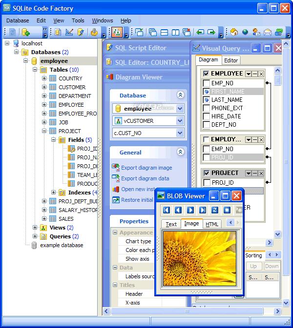 SQLite Code Factory Screenshot 3