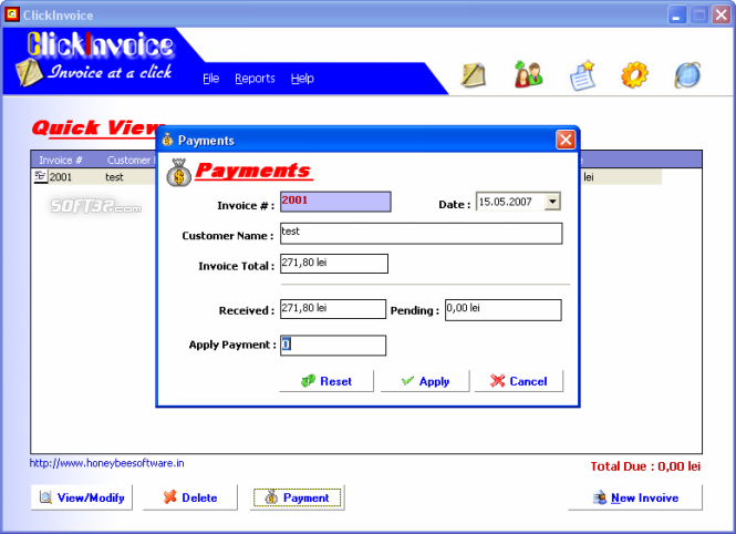 ClickInvoice Screenshot 2