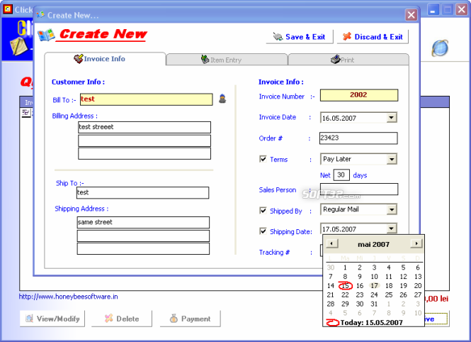 ClickInvoice Screenshot 4