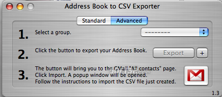 Address Book to CSV Exporter Screenshot 2