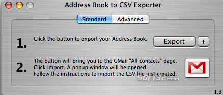 Address Book to CSV Exporter Screenshot