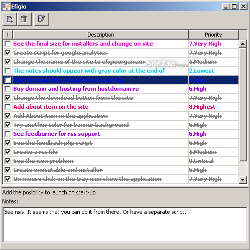 Efigio Personal Organizer Screenshot 2