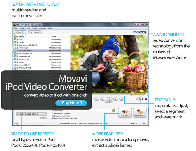 Movavi iPod Video Converter Screenshot