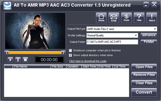 iWellsoft All to AMR MP3 AAC Converter Screenshot