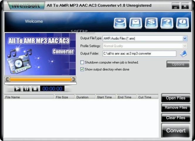 iWellsoft All to AMR MP3 AAC Converter Screenshot 2