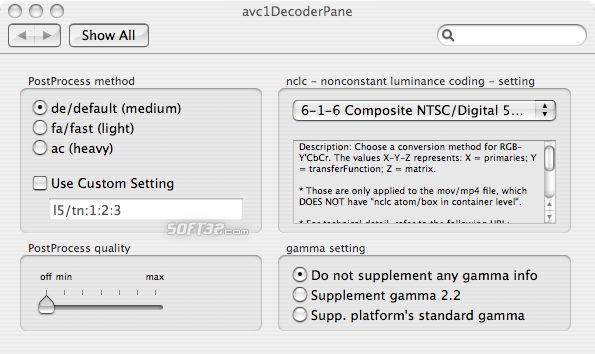 avc1Decoder Screenshot