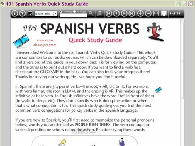 101 Spanish Verbs Quick Study Guide Screenshot 2