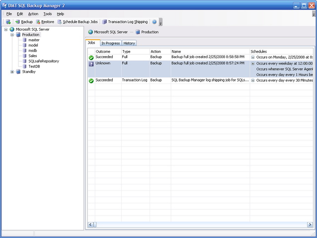 DMT SQL Backup Manager Screenshot