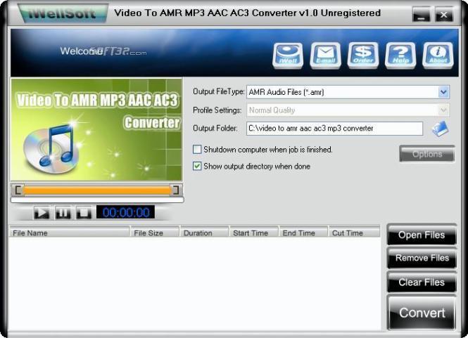 iWellsoft Video to AMR MP3 AAC Converter Screenshot 2