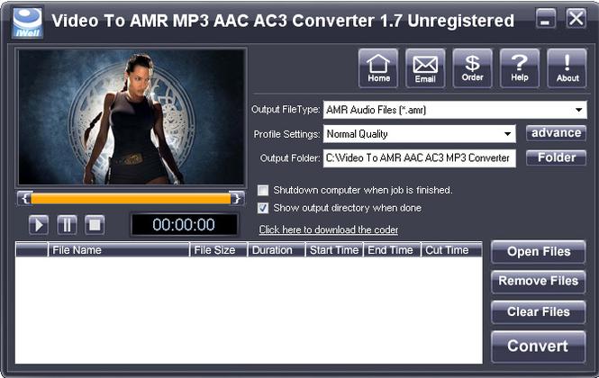 iWellsoft Video to AMR MP3 AAC Converter Screenshot