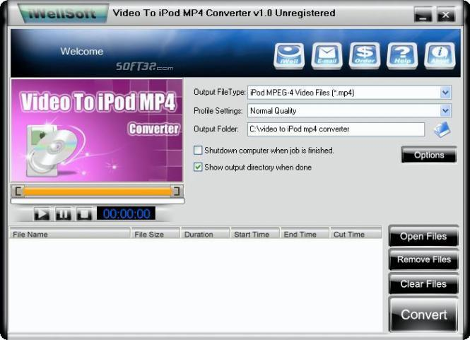 iWellsoft Video To iPod MP4 Converter Screenshot 2