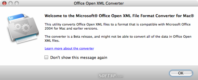Office Open XML File Format Converter Screenshot 3
