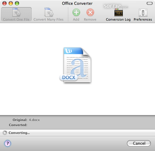 Office Open XML File Format Converter Screenshot