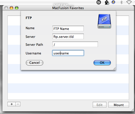 MacFusion Screenshot 2