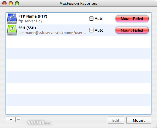 MacFusion Screenshot 3