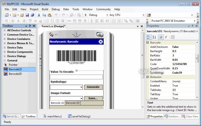 Barcode Professional for .NET Compact Framework Screenshot 3