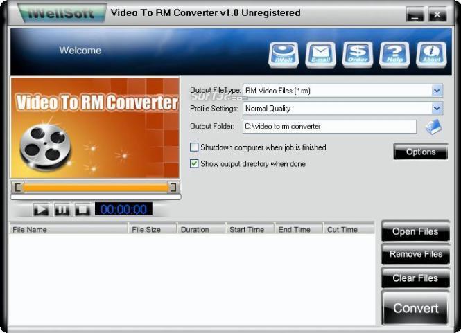 iWellsoft Video to RM Converter Screenshot 3
