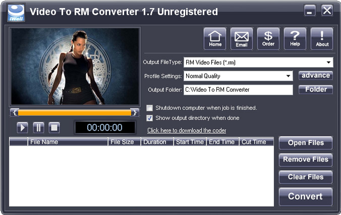 iWellsoft Video to RM Converter Screenshot