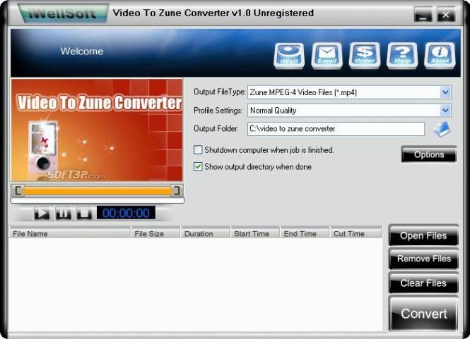 iWellsoft Video to Zune Converter Screenshot 3