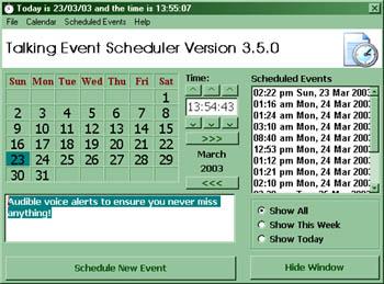 Talking Event Scheduler Screenshot
