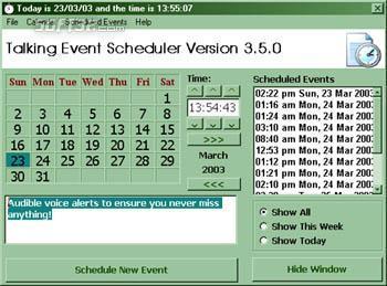 Talking Event Scheduler Screenshot 3