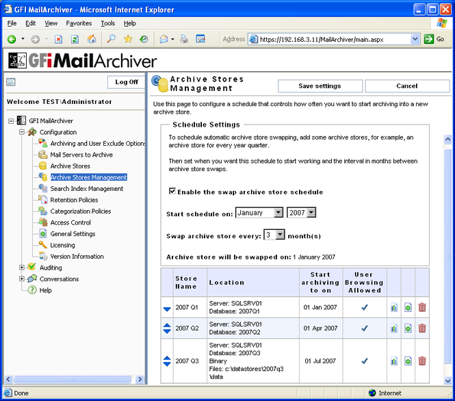 GFI MailArchiver for Exchange Screenshot 1