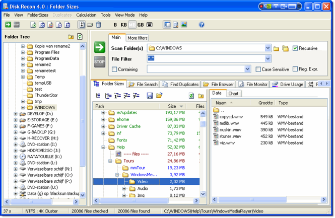 Disk Recon Screenshot 1