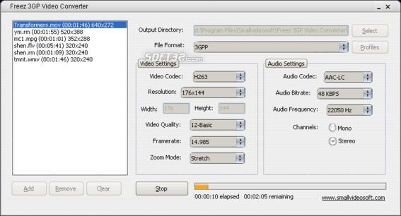 Freez 3GP Video Converter Screenshot 2