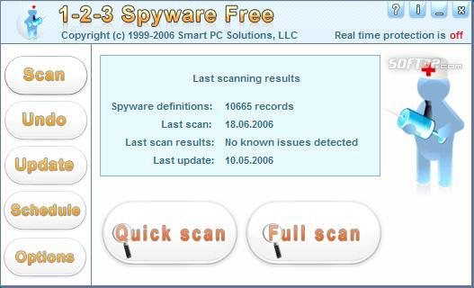 1-2-3 Spyware Free Mobile Screenshot