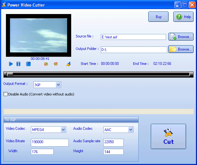 Power Video Cutter Screenshot