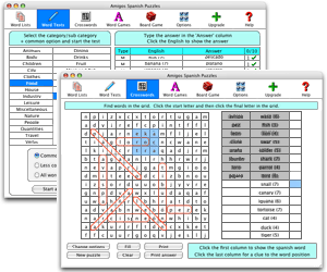 Amigos Spanish Puzzles (Mac version) Screenshot