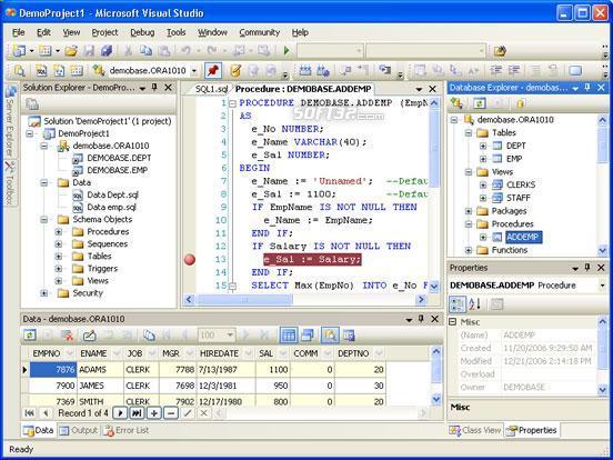 OraDeveloper Tools for VS.NET Screenshot 2