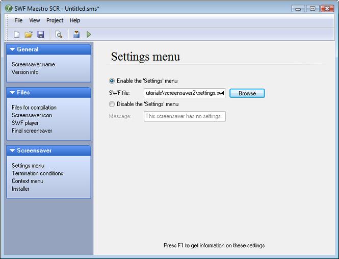 SWF Maestro SCR Screenshot 1
