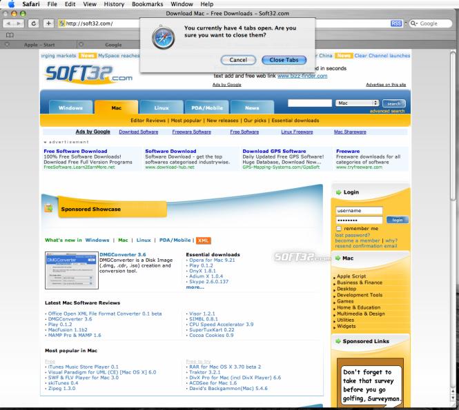 SafariTabs Screenshot