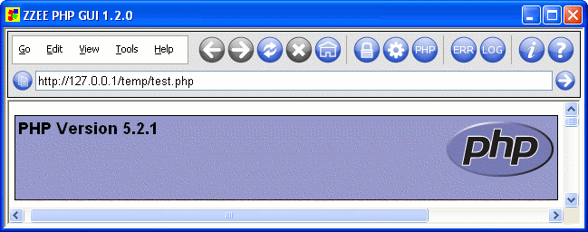 ZZEE PHP GUI Screenshot