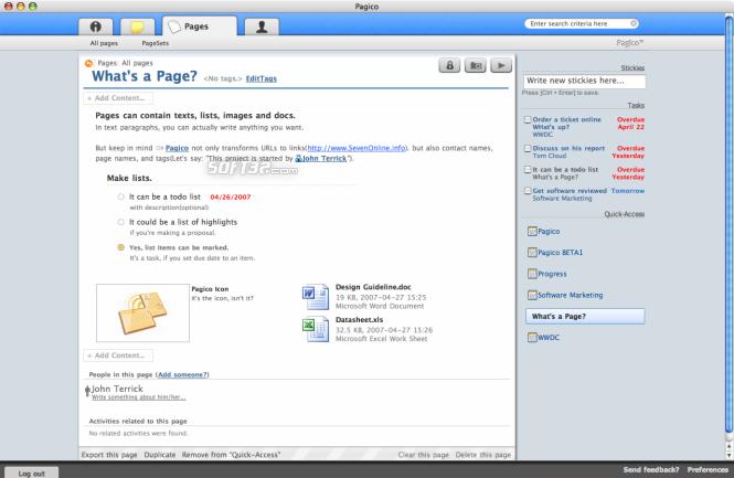 Pagico Screenshot 3