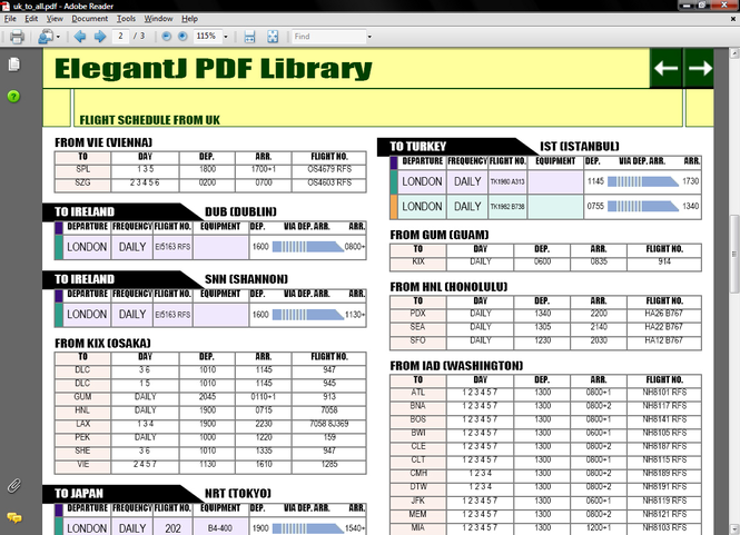 ElegantJ PDF Library Screenshot