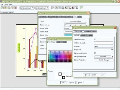 ElegantJ Chart Designer IDE Screenshot