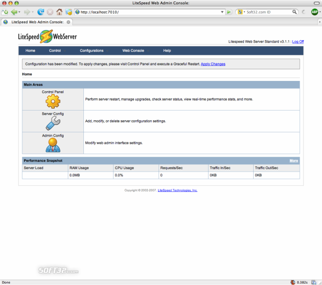LiteSpeed Web Server Screenshot 4