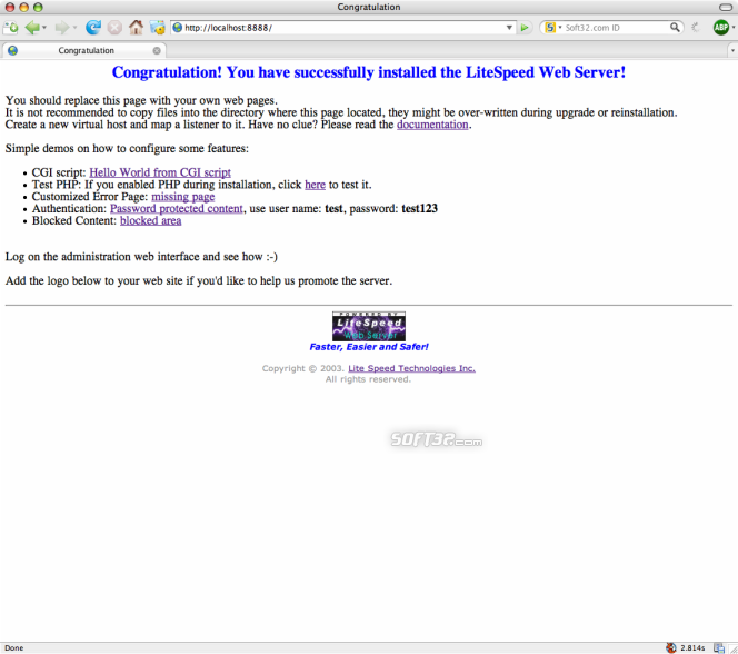 LiteSpeed Web Server Screenshot