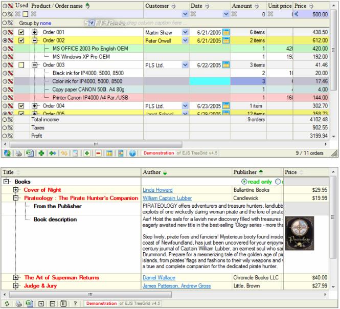 EJS TreeGrid Screenshot 2