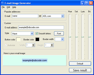 E-Mail Image Generator Screenshot 1