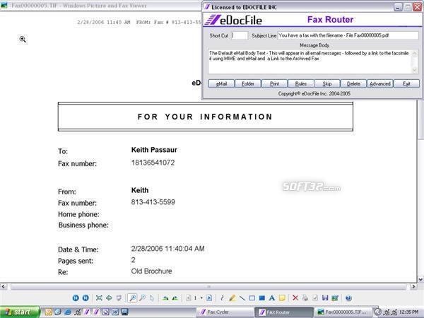 Fax Router Screenshot 2