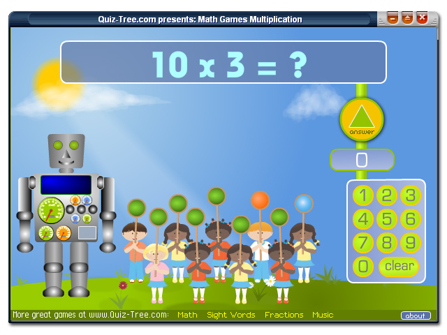 Math Games Multiplication Screenshot