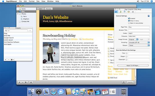 RapidWeaver Screenshot 1