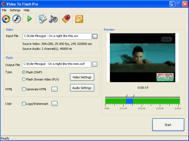 Video to Flash Converter PRO Screenshot 1